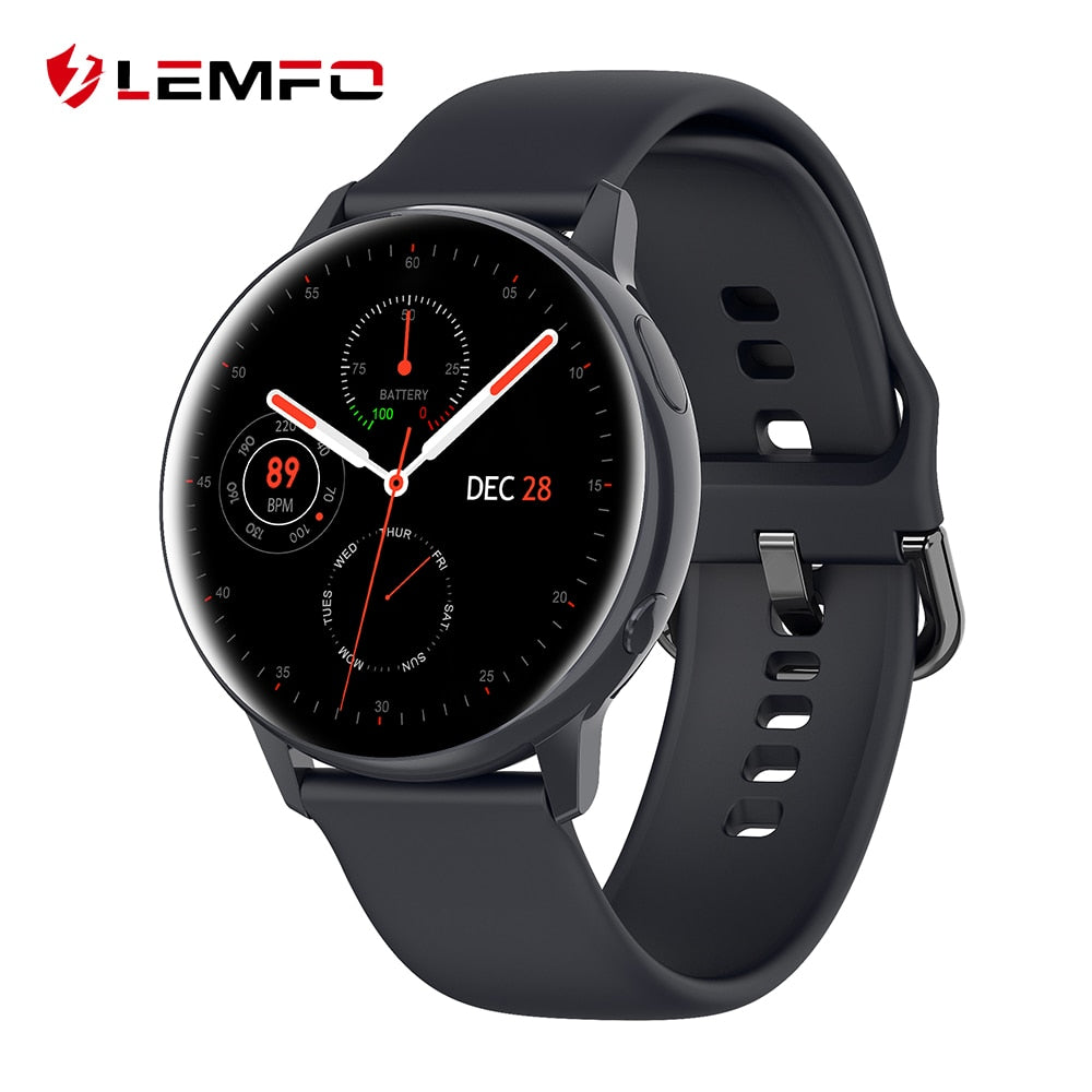 LEMFO SG2 Full Touch Amoled 390*390 HD Screen ECG Smart Watch Men Wireless Charing IP68 Waterproof Heart Rate BT 5.1 Smartwatch