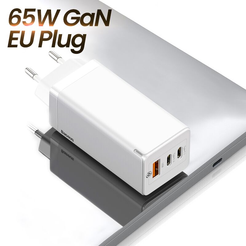 Baseus GAN 65W USB C Charger Quick Charge 4.0 3.0 QC4.0 QC PD3.0 PD USB-C Type C Fast USB Charger For Macbook Pro iPhone Samsung - Panda Play Store