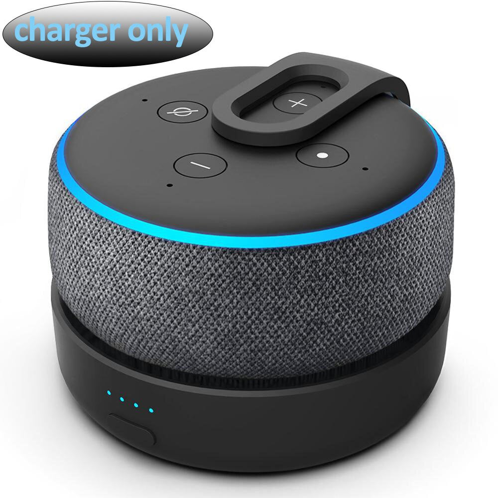 GGMM Portable Speaker, Battery Base for Echo Dot 3rd gen Amazon Alexa Speaker, Rechargeable Battery 15W Powrful For Better Sound