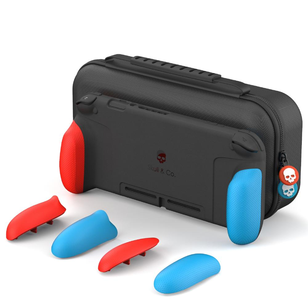 Skull & Co. GripCase with Replaceable Grips MaxCarry Case Cover Hard Shell Storage Bag for Nintendo Switch