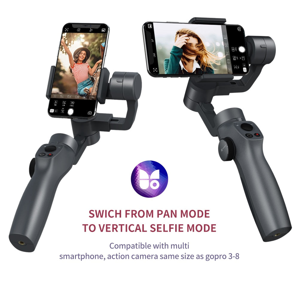 Funsnap Capture2 3 Axis Handheld Gimbal Stabilizer For Smartphone Samsung Iphone X XR 8 7 Gopro Camera Action EKEN 1 Gimbal Kit