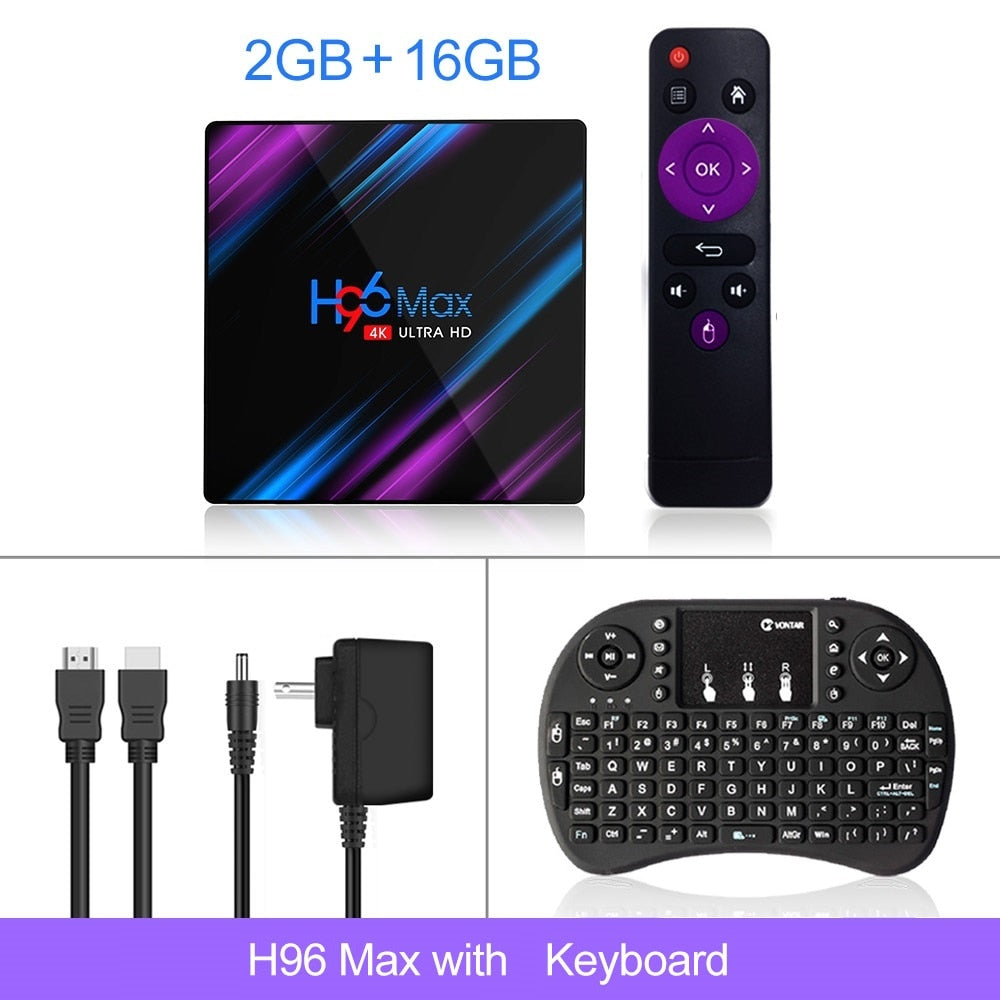 2020 H96 MAX RK3318 Smart TV Box Android 9 9.0 4GB 32GB 64GB 4K Youtube Media player H96MAX TVBOX Android TV Set top box 2GB16GB
