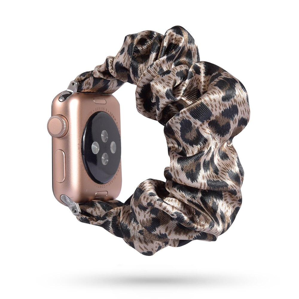 New Fashion Scrunchie Elastic Watch Band for Apple Watch Band 38mm/40mm 42mm/44mm Series 5 4 3 2 1 Bracelet Printed Fabric