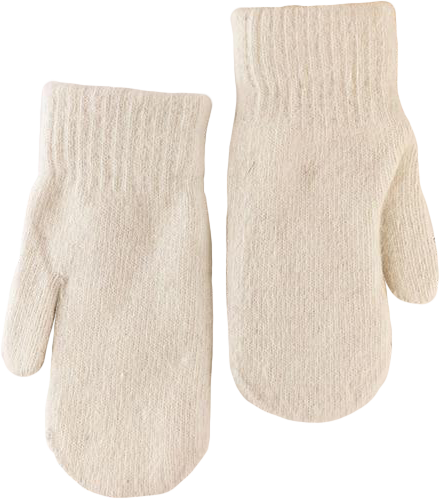 Angora and Wool Blend Mittens
