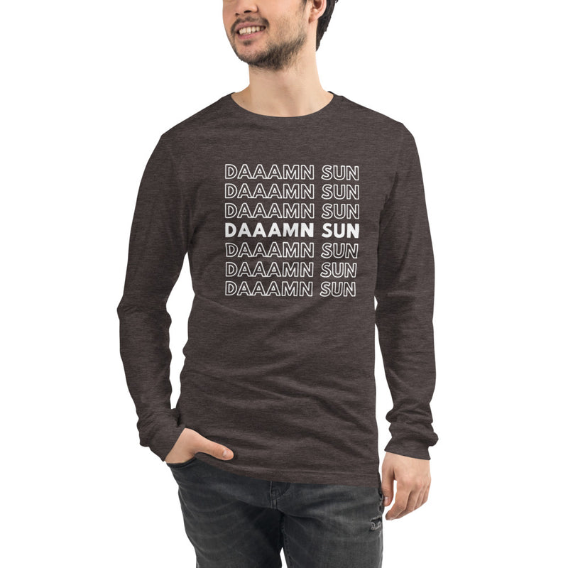 DAAAMN SUN (white) — Unisex Long Sleeve