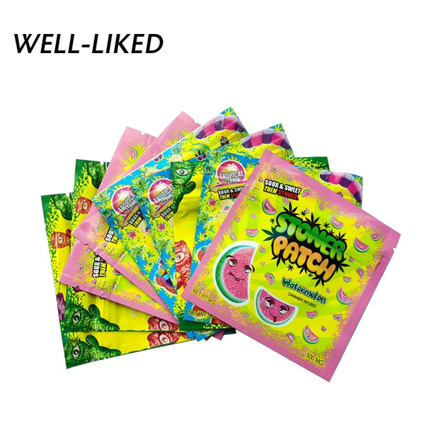 10 pcs Tobacco Sealed Storage Baggies Clear Plastic Opp Bags Candy Plastic Opp Bags Wholesale 10*10cm Weed Small Bag Waterproof