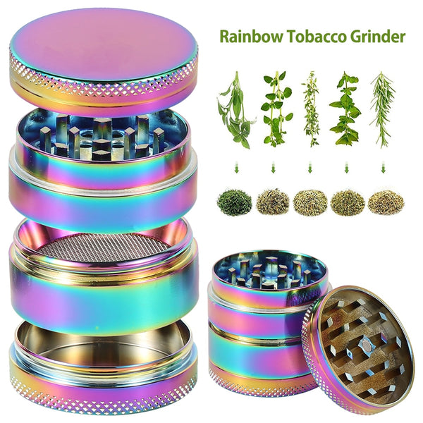4-layer Herb Tobacco Grinder Smoking Accessories Manual Hand Herb Grass Weed Tobacco Spice Grinder Miller Crusher Machine Gift