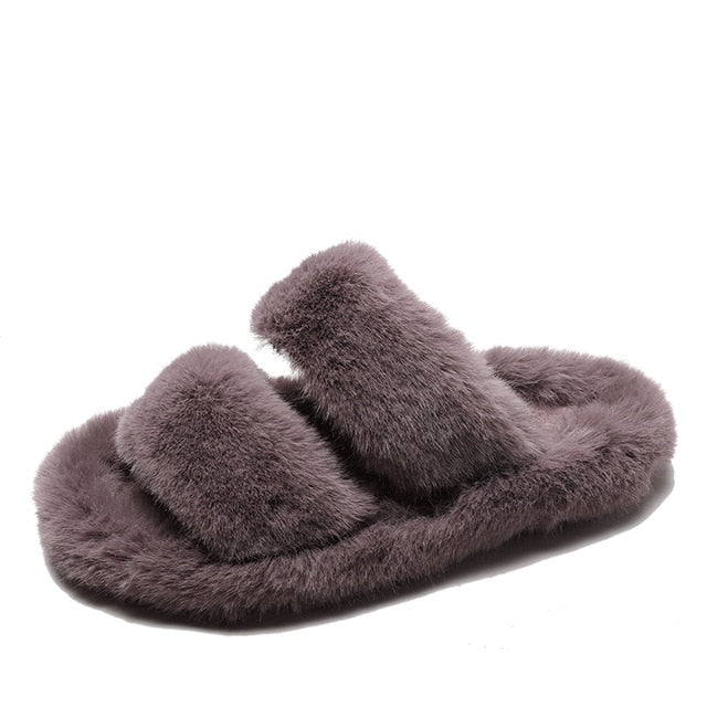 Furry House Slippers