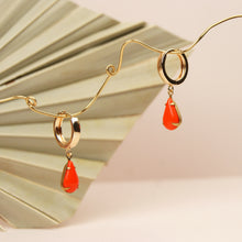 Load image into Gallery viewer, MINA Huggie Hoop Earrings - teardrop