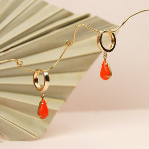 MINA Huggie Hoop Earrings - teardrop