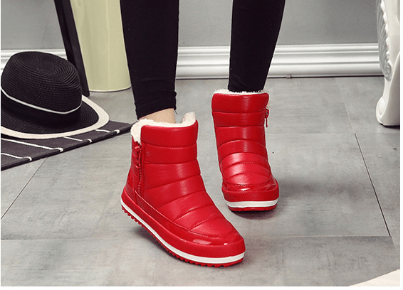 Thick-soled warm cotton shoes woman snow boots - Urunigi.com
