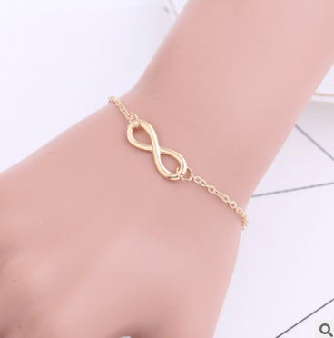 Fashion simple retro auspicious digital personality 8 word bracelet - Urunigi.com