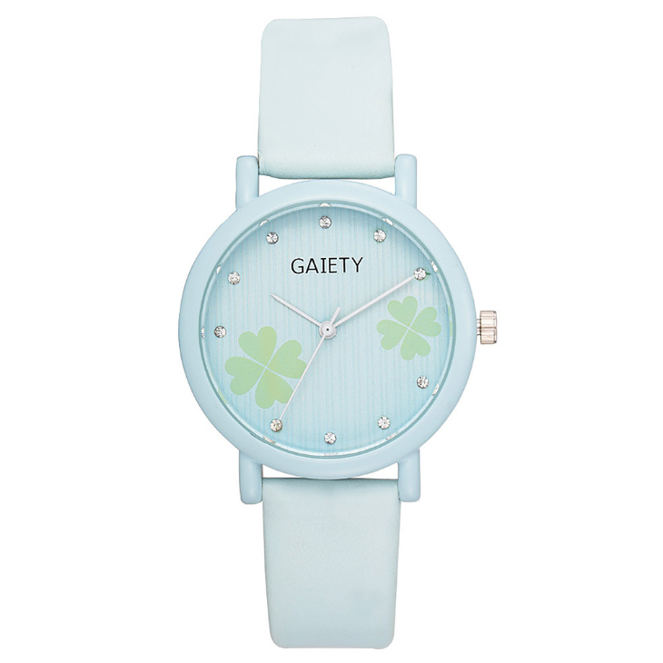 Korean girls watch popular smalland elegant clover pattern with diamond mirror time scale wholesale