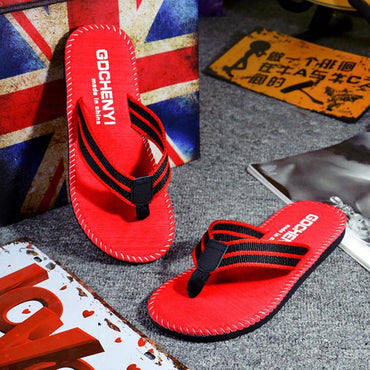 Summer flat men's slippers