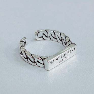 Simple and creative old chain English letter ring - Urunigi.com