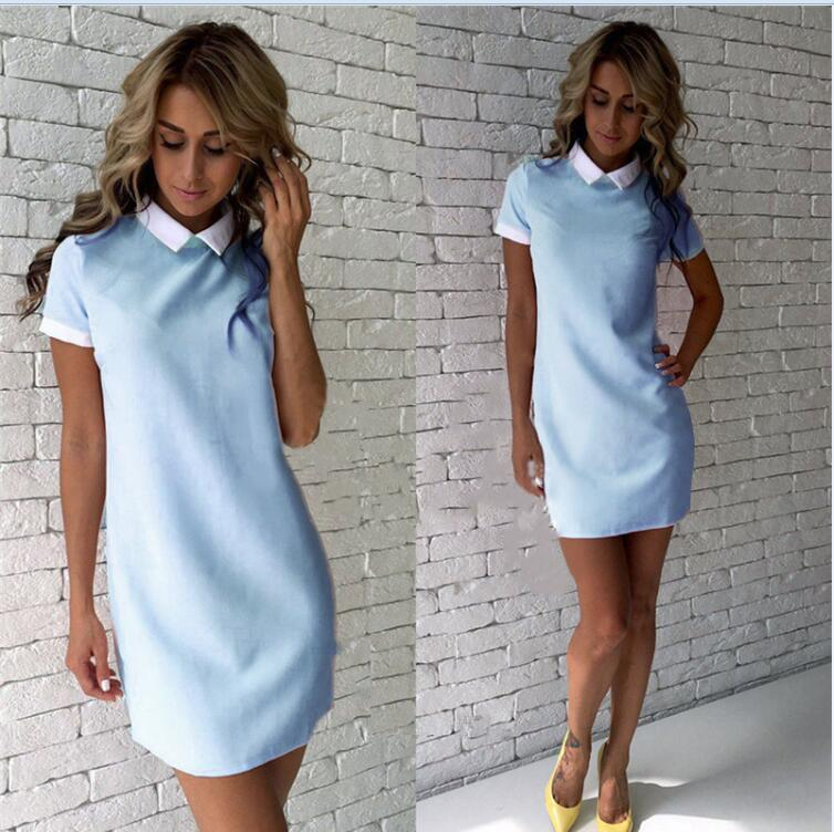 Base color matching long sleeve dress - Urunigi.com
