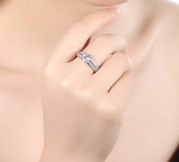 Temperament fashion simple creative diamond zircon ring female ring - Urunigi.com
