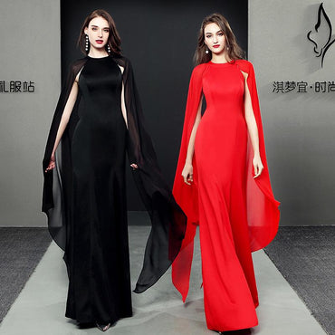 Evening dress female 2020 new banquet performance model host noble atmosphere long dress skirt dress spring - Urunigi.com