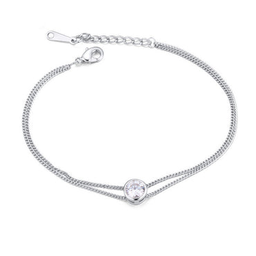 Zircon metal bracelet female