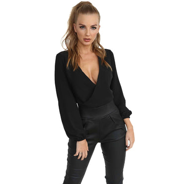 Sexy Slim Fit Long Sleeve Knotted Top