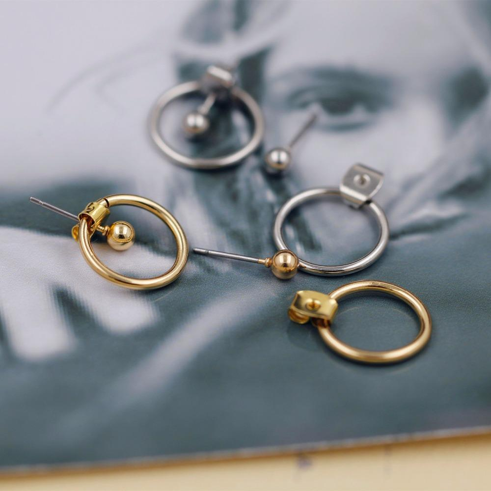Round Metal Back Earrings - Urunigi.com
