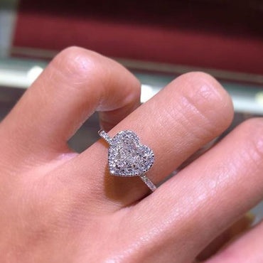 Creative heart-shaped diamond ring - Urunigi.com