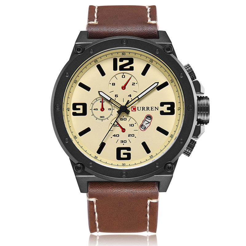 Men's quartz watch fashion sports watch
