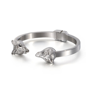 Men's lion head animal bracelet