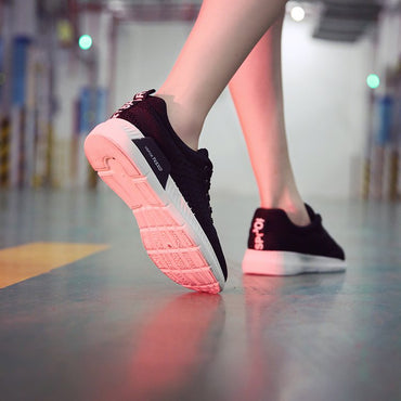 Flyknit sports shoes women's shoes breathable mesh cloth shoes Korean version small white shoes flat running school shoes