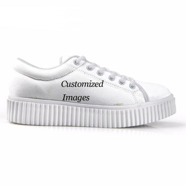 Custom Images or Logo Flats Platform Shoes Woman Women's Fashion Low Style Creepers Shoes for Ladies Casual Female - Urunigi.com