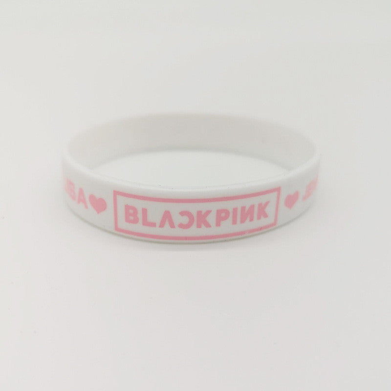 The same silicone bracelet