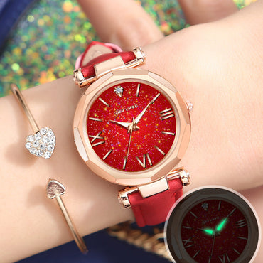 Luminous diamond star watch