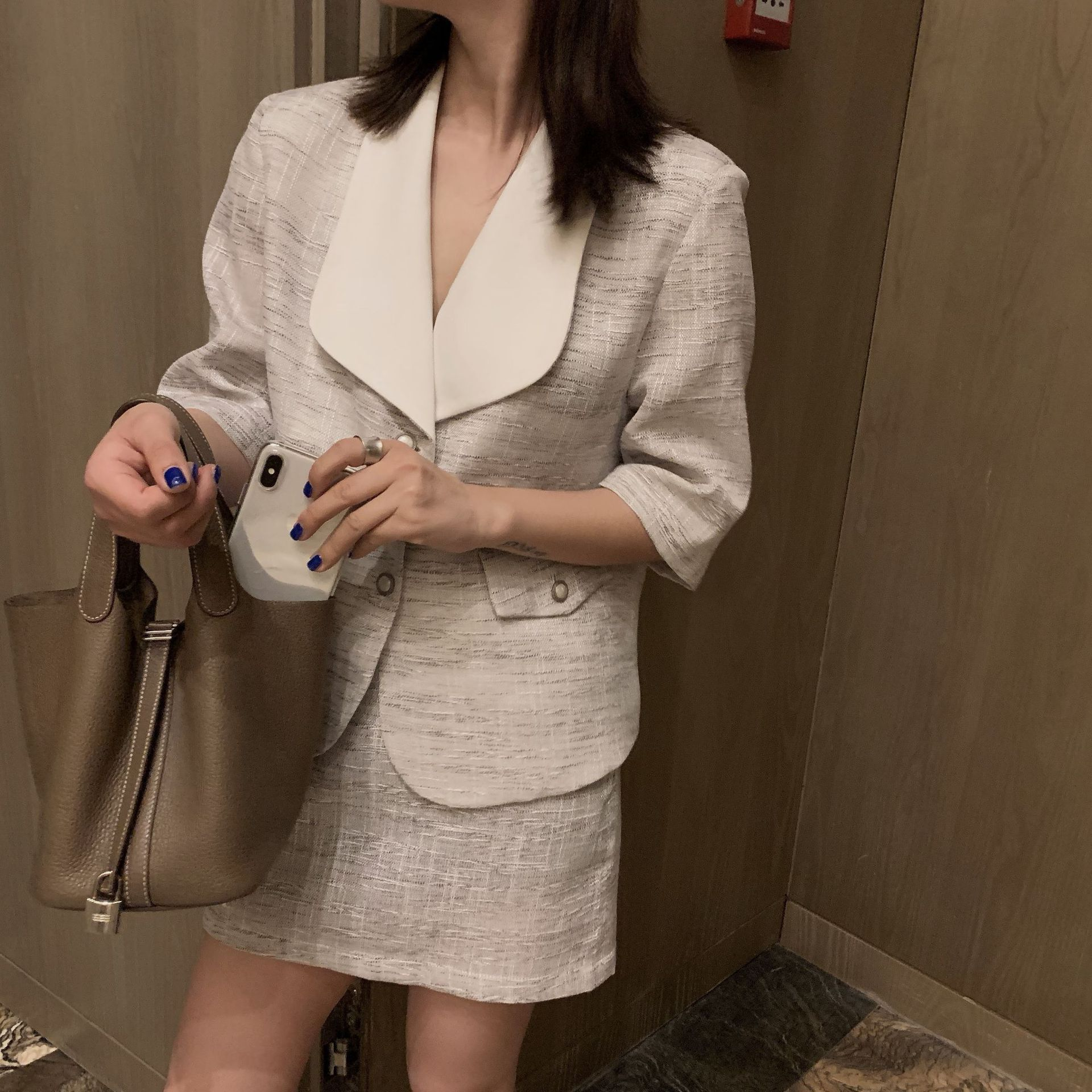 Small fragrance suit half skirt suit - Urunigi.com