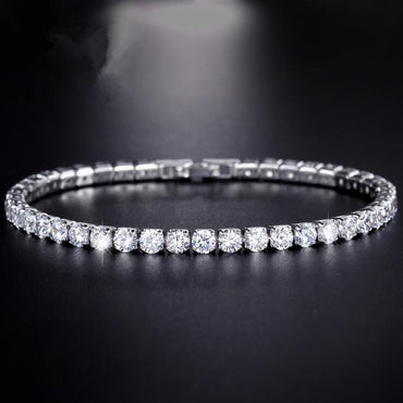 Cubic Zirconia Tennis Bracelet & Bangles For Women Christmas Gifts New Fashion Lady Jewelry - Urunigi.com