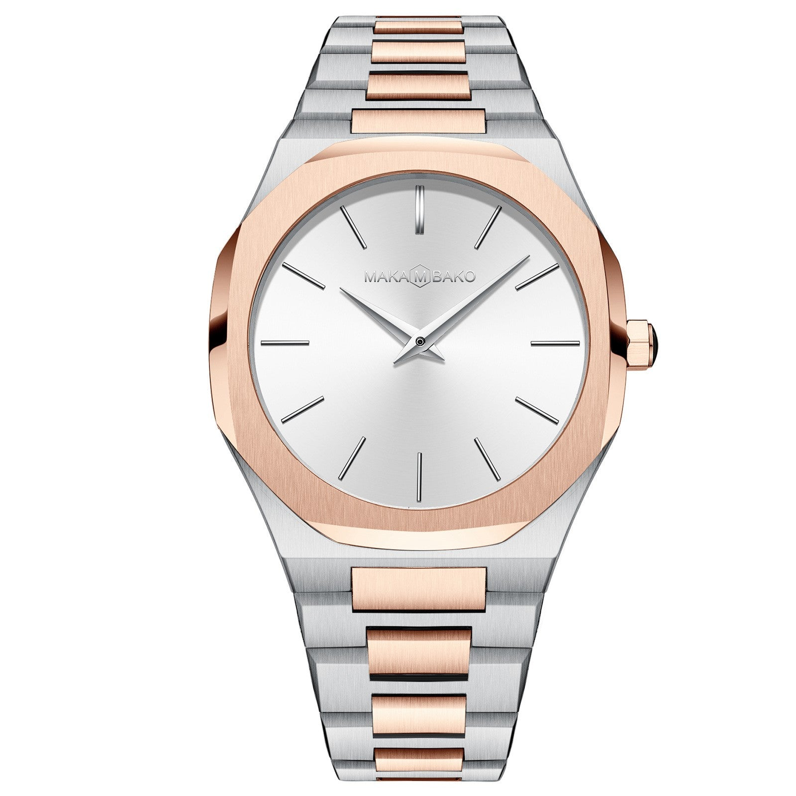 Stainless steel strap quartz watch
