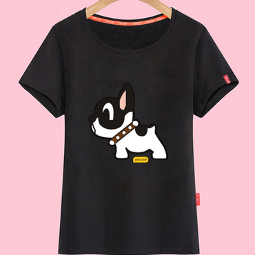 The lovely girls animal cartoon T-shirt in red T-shirt t blood of junior high school students with college