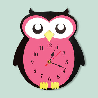 New Arrival Creative Balloon Owl Wall Clock Cartoon Acrylic Mute Children Bedroom Wall Clock Home Decor Christmas Gifts