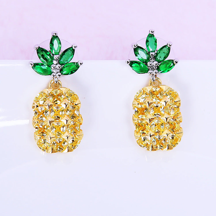 Ear Bud Necklace  Korean Style Pineapple