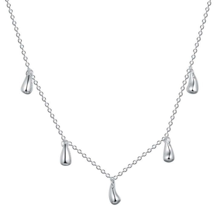 Four-piece silver water drop set