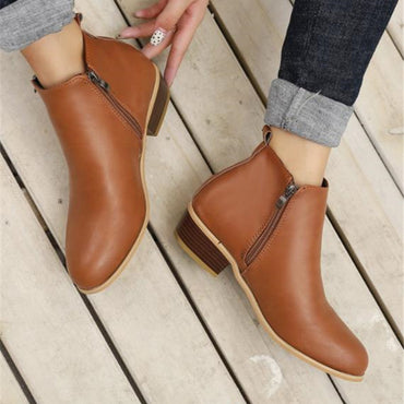 Spring Autumn New Woman Boots Low Heels
