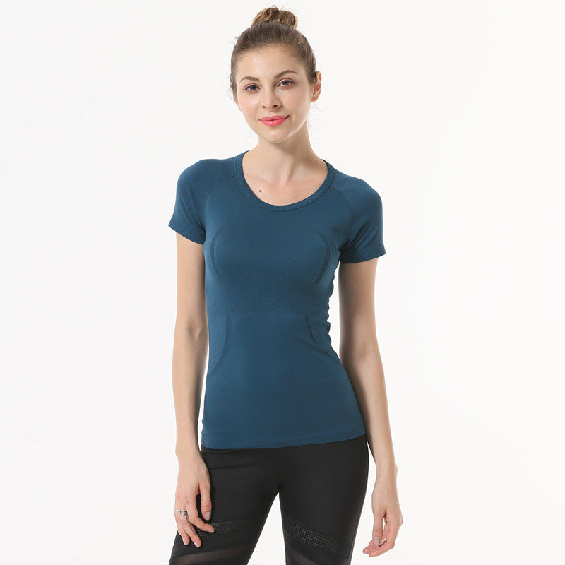 Quick-drying yoga clothes blouse