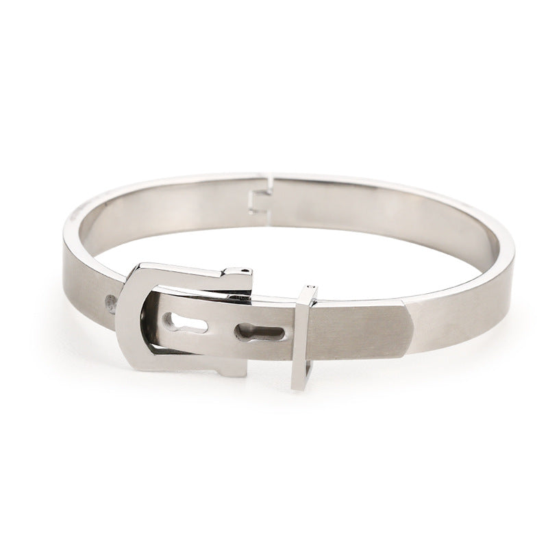 Creative Roman Digital Titanium Steel Valentine Bracelet with Ring Valentine Gift