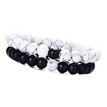 White pine 8mm set bracelet