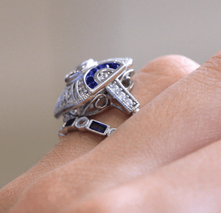 Blue topaz ring - Urunigi.com