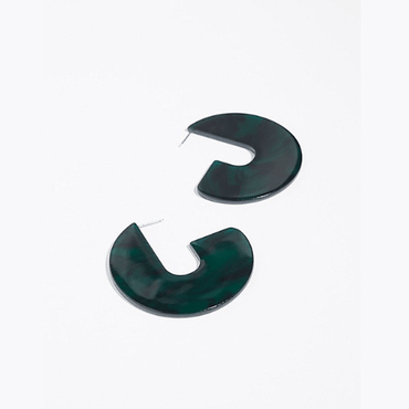 Semicircular earrings - Urunigi.com