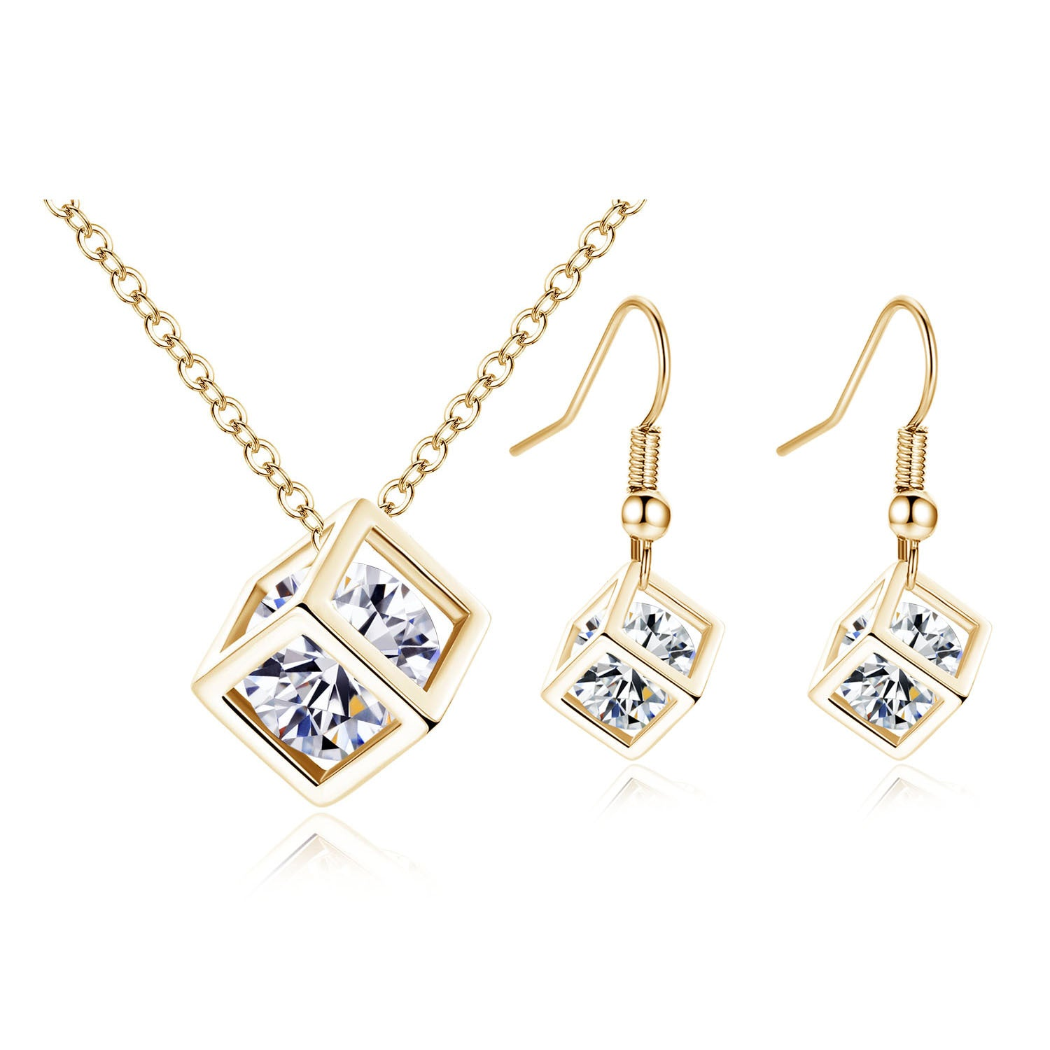 Water cube zircon set