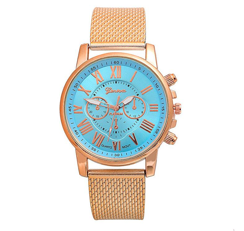 PVC multi-color face bracelet watch Roman digital face quartz watch WISH hot sale ladies Geneva watch