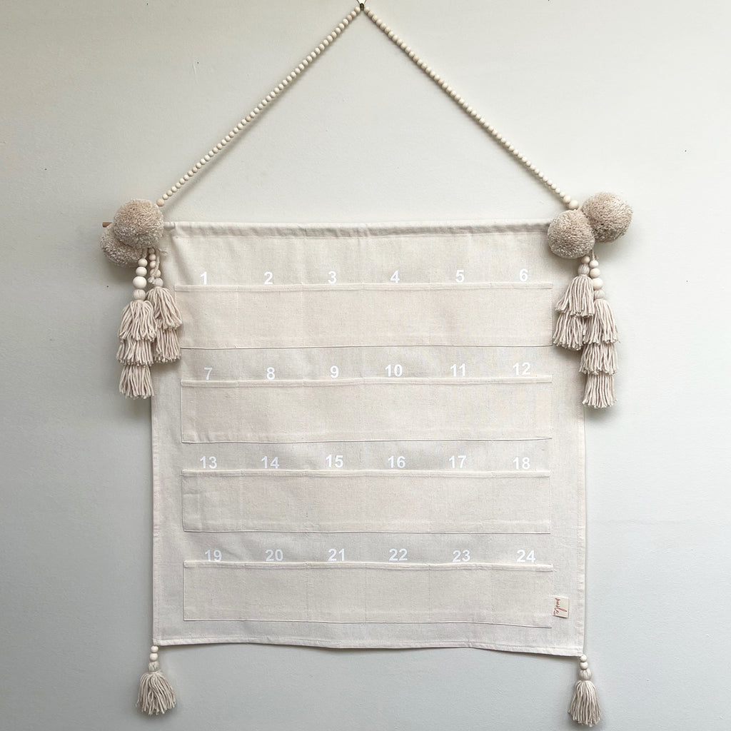 SALE // Advent Calendar Linen *NO POCKET POMPOMS*