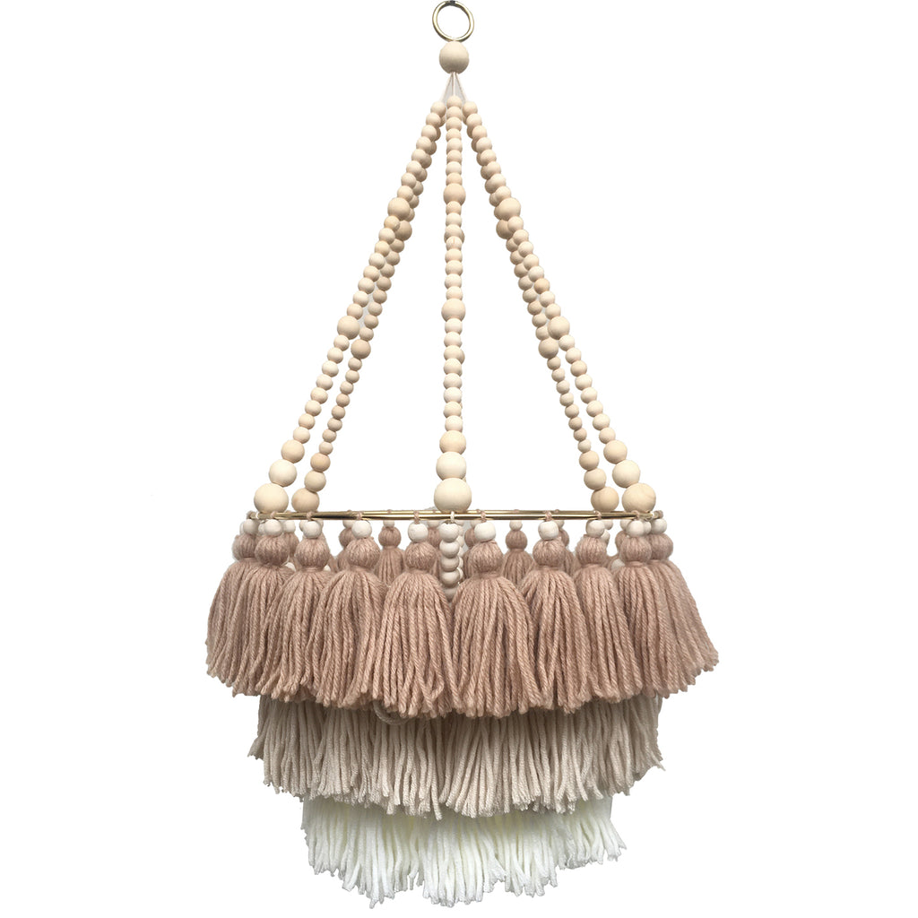 CHAI LATTE // Triple Layer Tassel Chandelier
