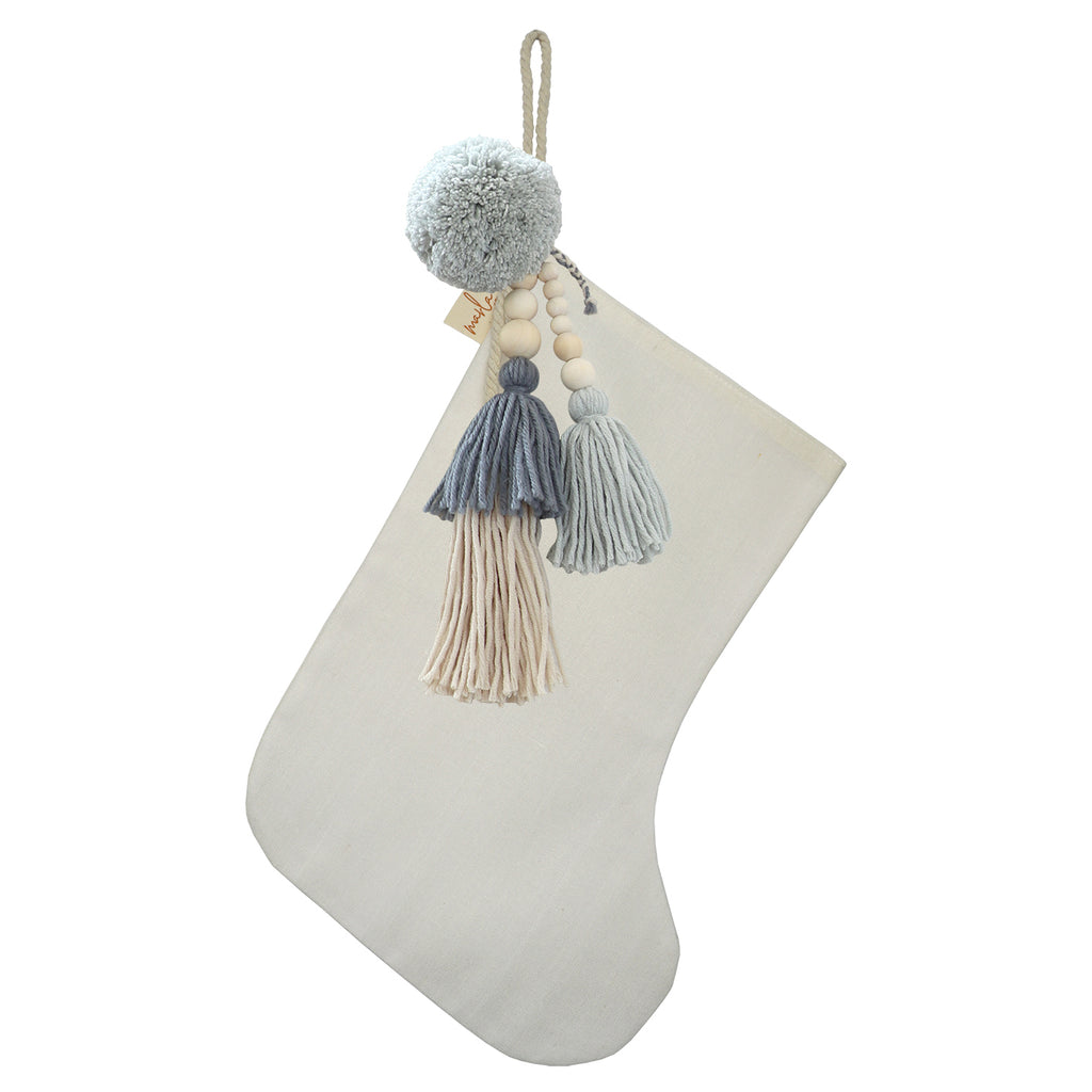 SALE // Cream Stocking with Blue Linen Jumble **PHOTOSHOOT SAMPLE**